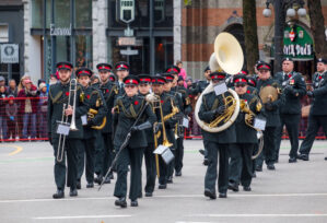 The-Band-on-parade-with-the-Regiment-at-Remembrance-Day